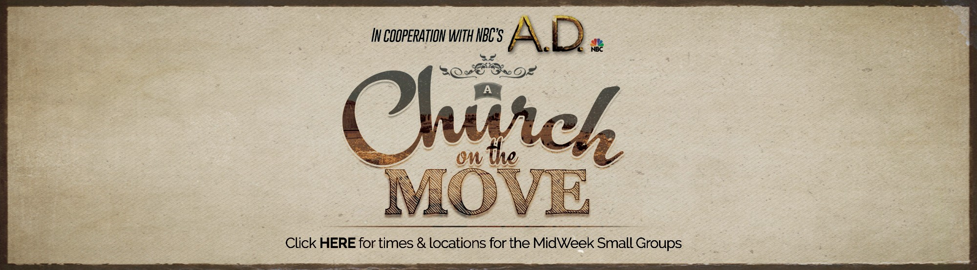 A Church on the Move small groups main